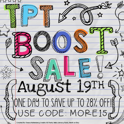 One Day Bonus Sale at TpT (and before and after classroom pics)