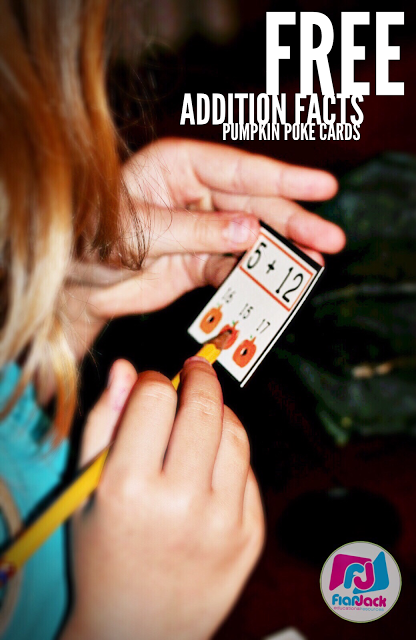 Addition Pumpkin Poke Freebie and Multiplication Pumpkin Patch Giveaway!