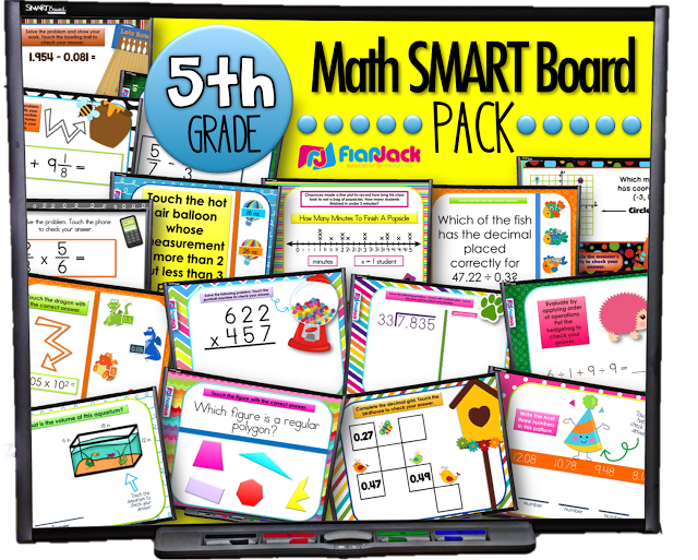 5th Grade Math Smart Board Games Pack (At Last!)