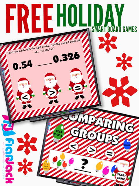 FREE Holiday Smart Board Games