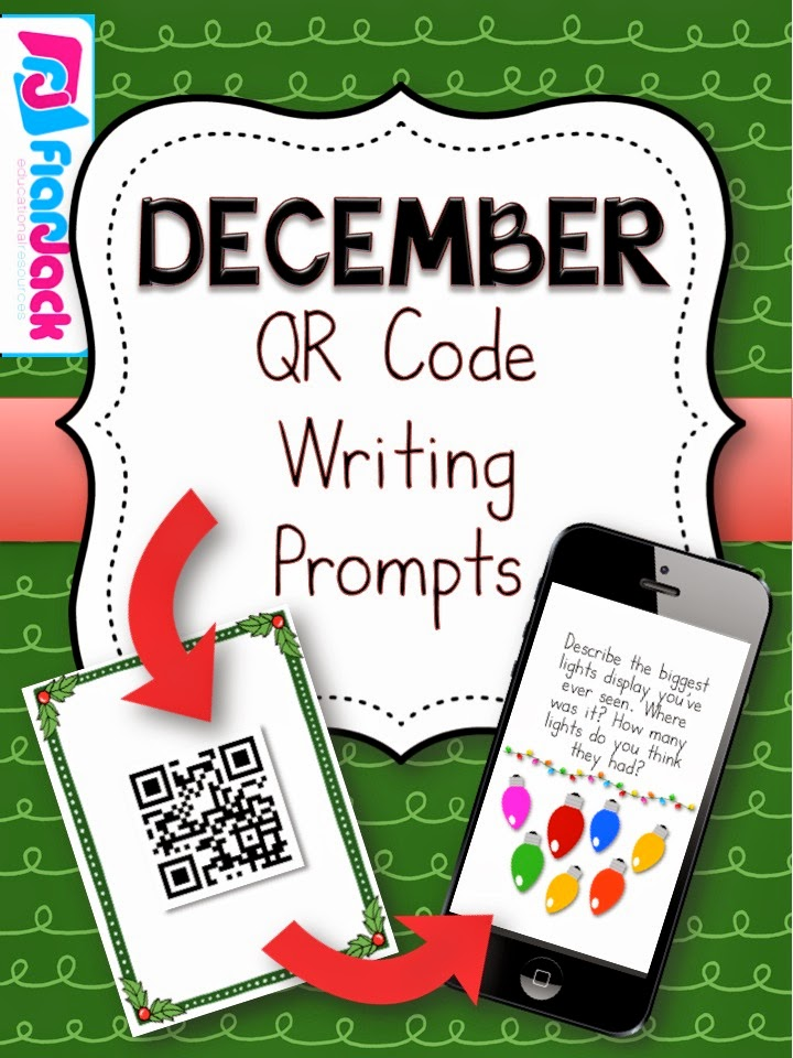 http://www.teacherspayteachers.com/Product/December-QR-Code-Writing-Prompts-1566225