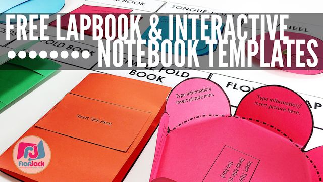 Free Editable Lapbook Interactive Notebook Templates When You