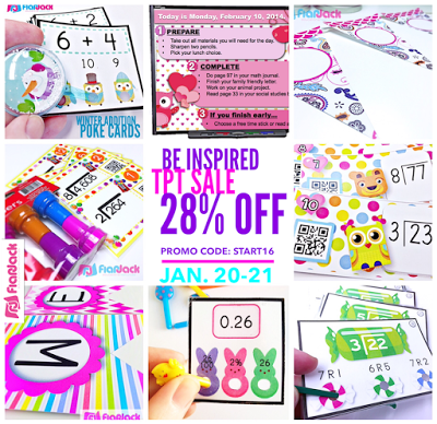 Be Inspired TpT Sale! 28% Off All FlapJack Resources