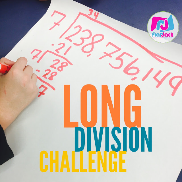 Fun Long Division Challenge Activity – Low Prep